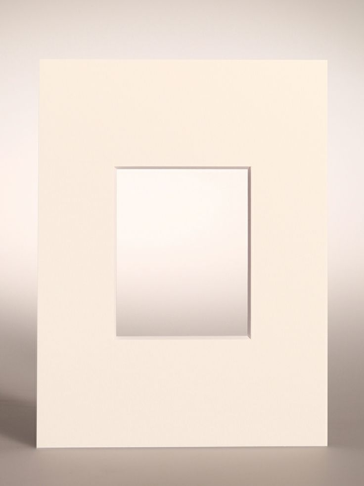 PASSEPARTOUT bianco 18x24 cm con foro centrato verticale per Pellicola FUJI FP-100