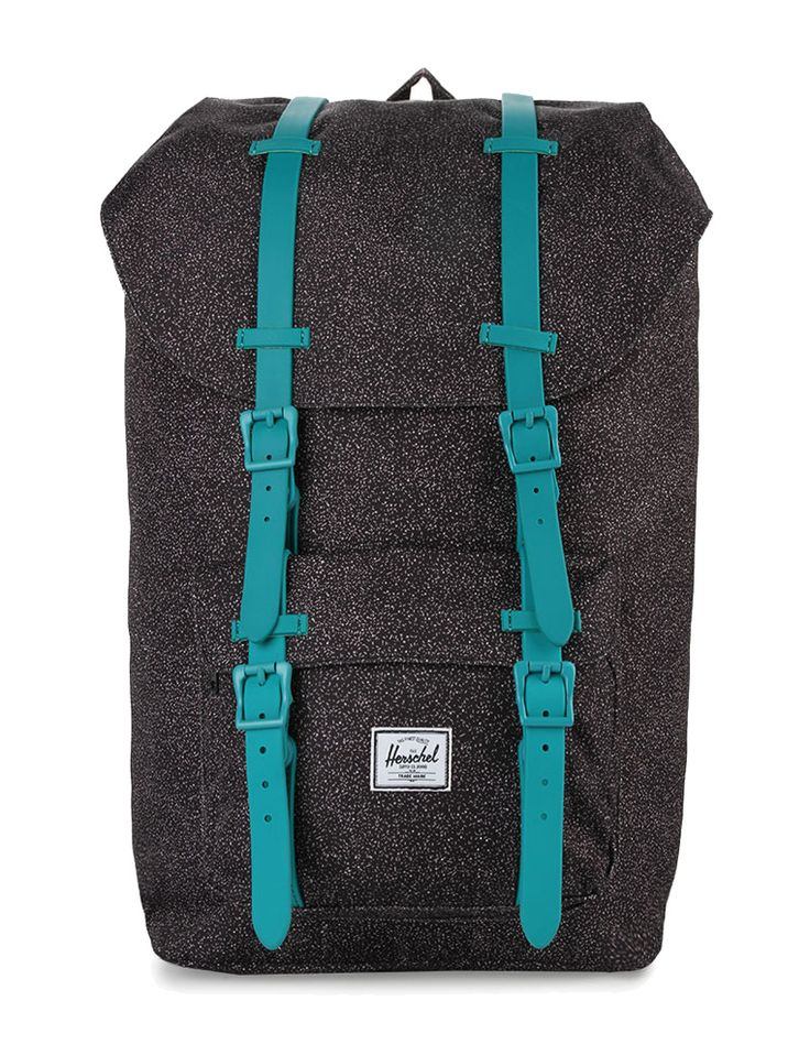 Little America Backpacks dari Herschel. Classic style backpack with speckle pattern and contrast strap, flap closure, pocket, spacious compartment, buckle strap, laptop sleeve, padded shoulder straps, Herschel logo. Perfect for holiday.    http://www.zocko.com/z/JJDSU