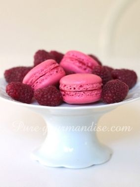 #macarons #framboise recette puregourmandise pure gourmandise