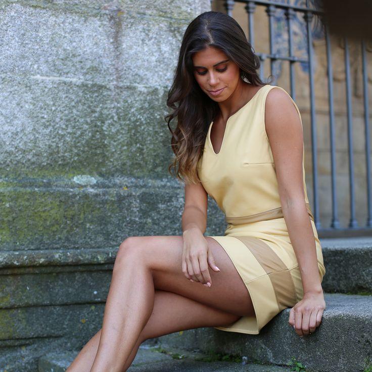 Leather Dress #leather #dress #woman #vestido  #pele # mulher #desubito