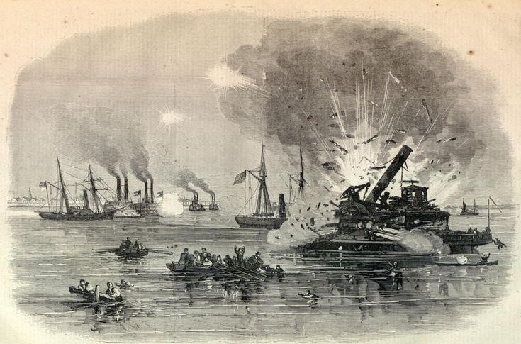 Juneteenth Emancipation Day, TX pictures | HarrietLane. Rebel Gun-boats. Owasco. Westfieldbeing blown up ...