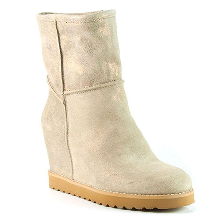 WINNY BEIGE NABUCK - :: Korte laarzen - Vrouw - Ab Donkers, van € 160 voor € 96 Helaas, Ab donkers is failliet :-(