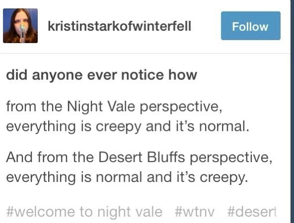 Umm... I'm pretty sure having a desk full of blood is. Not. Normal. Desert bluffs is just.... /wrong /