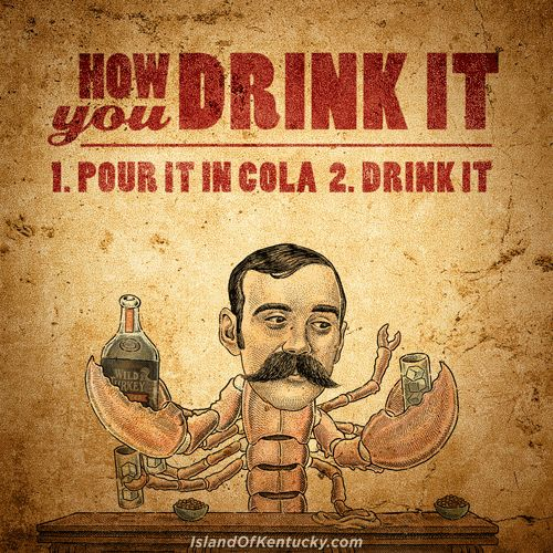 Kentucky Mike recommends mixing Wild Turkey Spice with cola. Check out this cool site from Wild Turkey.