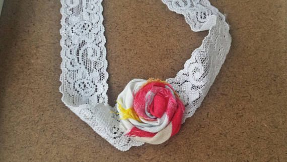 Flower Headband Rose Headband Tie Back Headband Photography