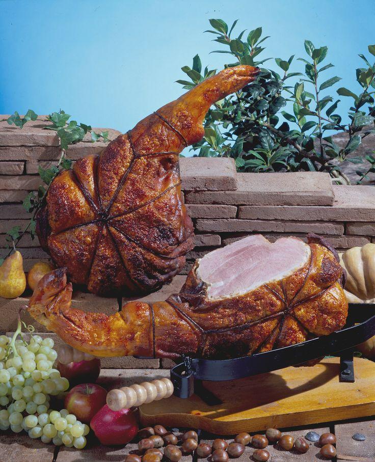 Natural roasted leg of pork