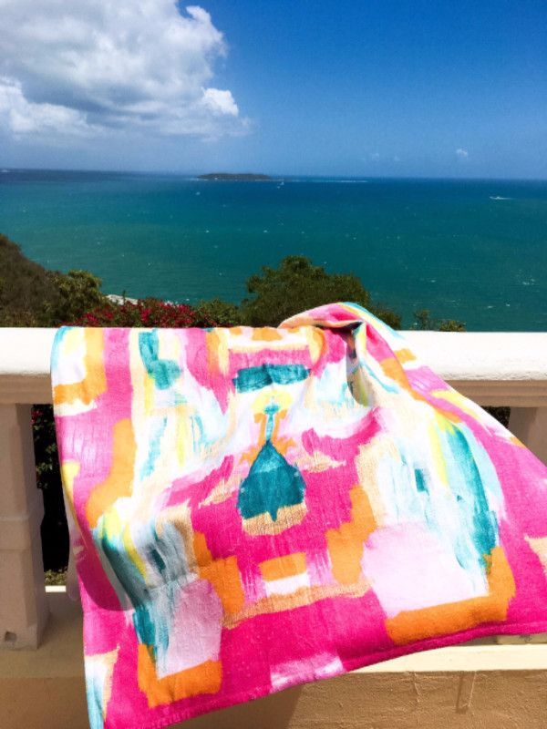 Vibrant beach towels by The Blush Label