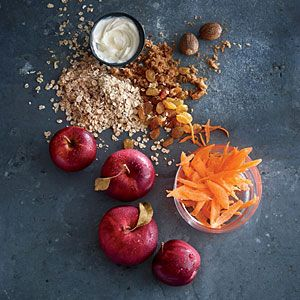 MyPlate-Inspired Breakfast Recipes | Rolled Oats with Carrot and Apple | CookingLight.com