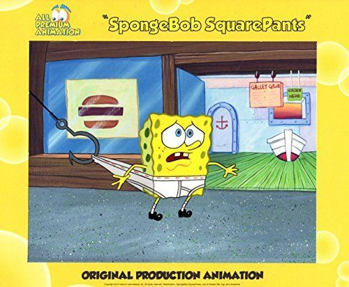 Hand Painted SpongeBob SquarePants Production Cel from episode HOOKY#5371 Free Shipping Cont USA @ niftywarehouse.com #NiftyWarehouse #Spongebob #SpongebobSquarepants #Cartoon #TV #Show