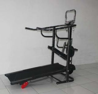Toko Jual Alat Olahraga Purwokerto | Melayani COD | 0857-4263-5556: Treadmil Manual 4 fungsi 003 antigores manual trea...