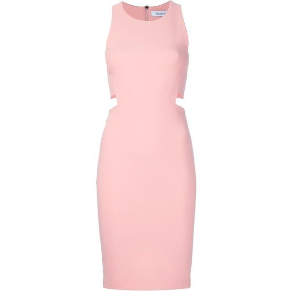 Elizabeth And James cutout bodycon dress (€480) ❤ liked on Polyvore featuring dresses, bodycon dress, light pink cocktail dress, pink bodycon dress, cut out cocktail dresses and light pink bodycon dress