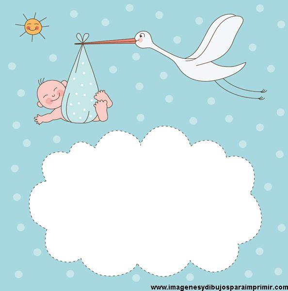 Imagen tarjeta baby shower niño-Imagenes y dibujos para imprimir