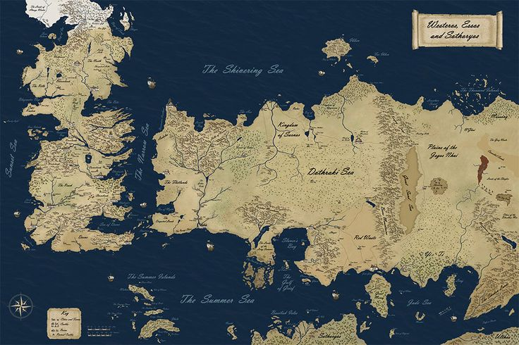 New Official Westeros Map by ~gunnar-santos on deviantART