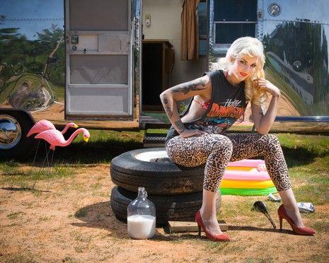 Skinny trailer park trash