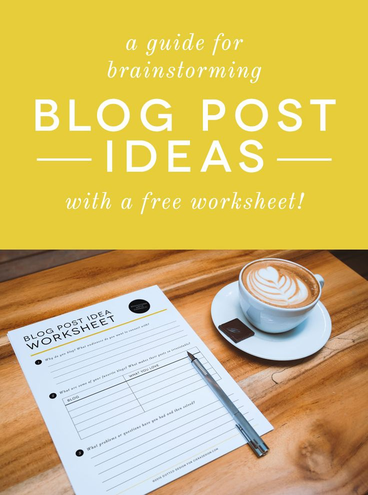 Free Worksheet to Brainstorm Blog Post Ideas