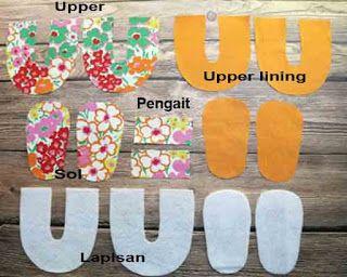 Tutorial cara membuat sepatu bayi dari kain perca 1