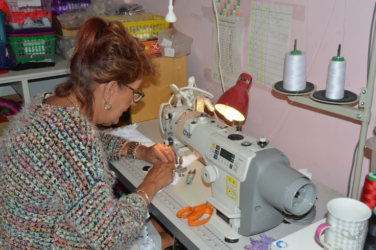 Take a look at our brilliant sewing team hard at work! #Maximum #Confidence #handmade #madeinbritain #MaxCleavage