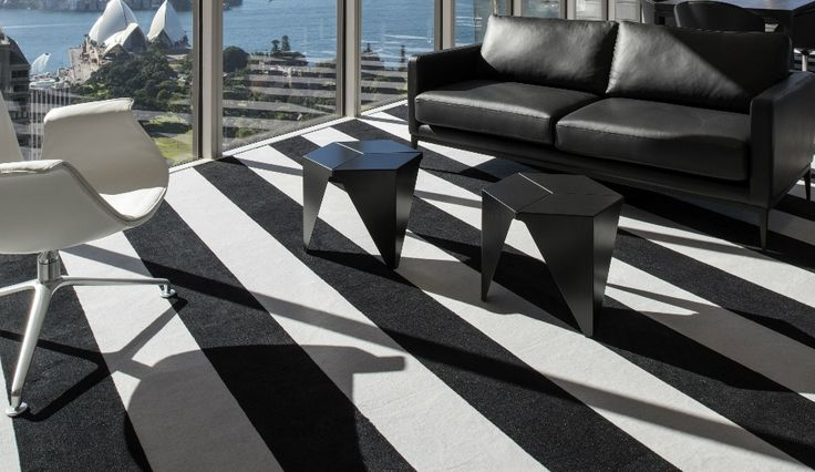 Bold Stripe Carpet Tiles, Aurora Place, Sydney NSW | Godfrey Hirst Australia Commercial