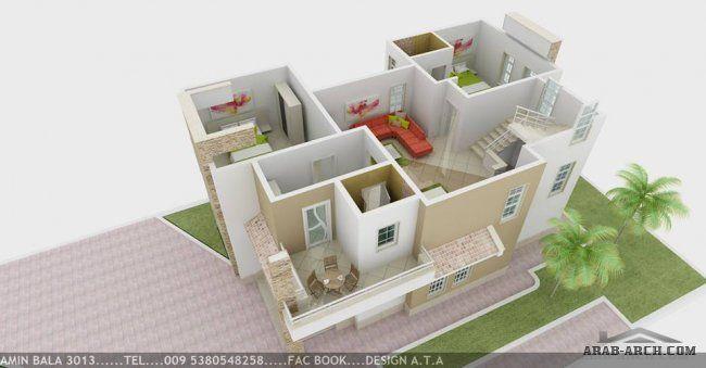 فيلا بمساحة 120 متر تصميم شركة Ata الخرائط الداخلية 3d Home Decor Design Home