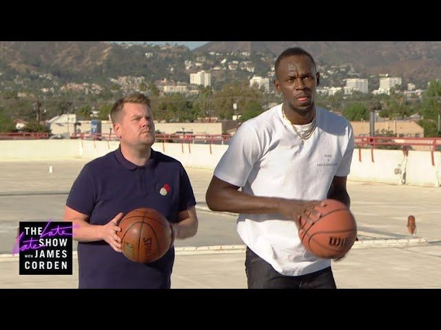 After losing a 100m race and a Drop The Mic battle to Usain Bolt, James makes the fastest man on earth play him at basketball, Twister, chess, and much more.     https://www.youtube.com/watch?v=5AdsGaDYYyY   #Carpool #CBS #celeb #Celebrities #Celebrity #colbert #Comedian #Comedy #Corden #Famous #funny #funny video #funny videos #hollywood #humor #impressions #James Corden #Joke #jokes #Karaoke #Late Late Show #late night #late night show #monologue #stephen colbert #The La