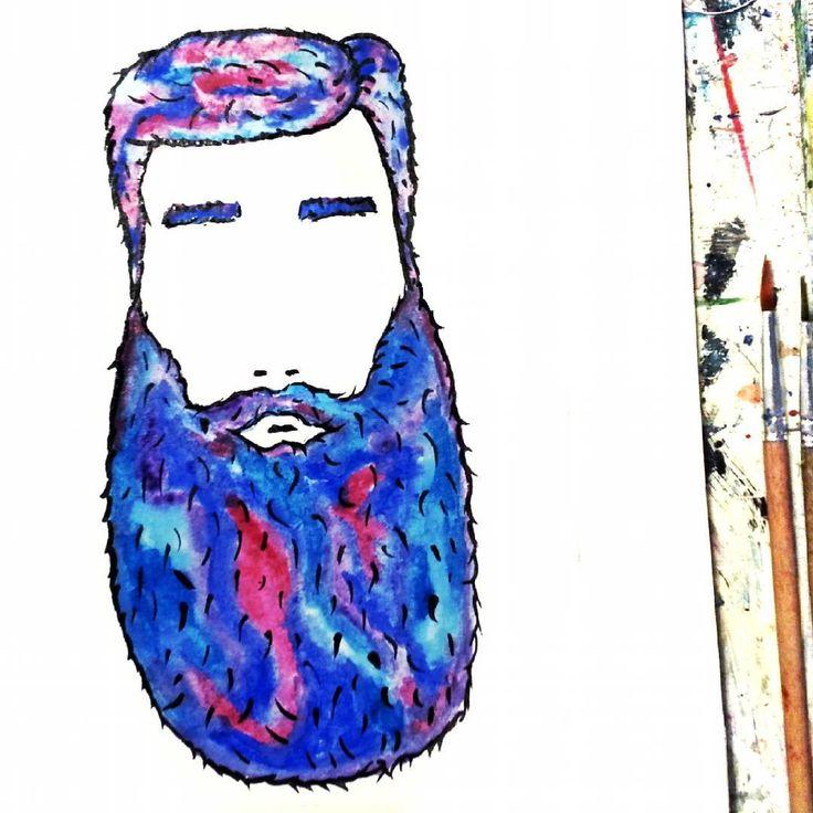 У тебя есть борода!?! Я скажу тебе... Что я очень рада за тебя! У меня теперь она тоже есть. Вот! 😁😻👍 #арт #рисунок #борода #акварель  #art #drawing #watercolor #by_atatay #beard #illustrator  #men #illustration