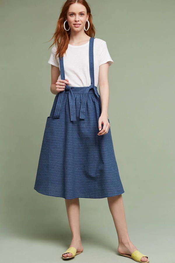 Moon River Regina Suspender Skirt