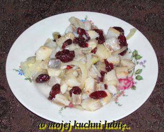 W Mojej Kuchni Lubię..: matiasy z żurawiną...