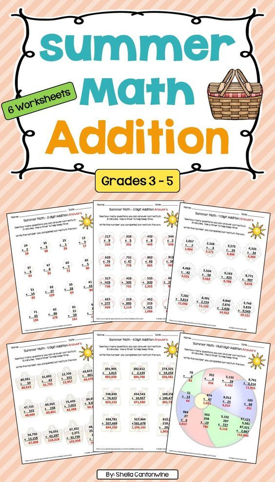 Summer Worksheets For 5th Graders : Best images about th grade math on pinterest