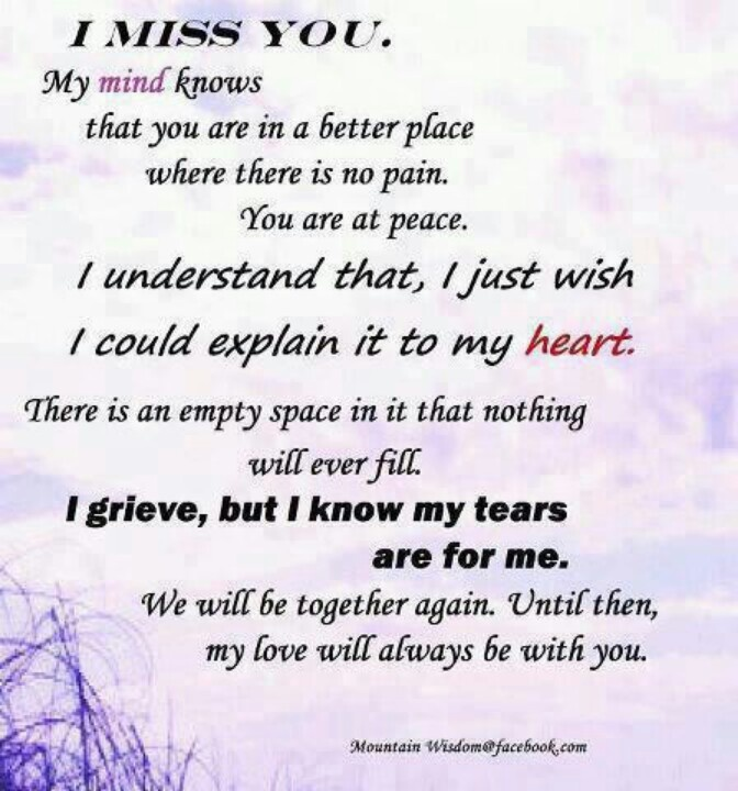 I Miss U Mom So Much. This Says How I Feel ..