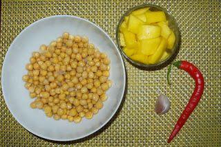 Zielona Chrupalnia : hummus z mango