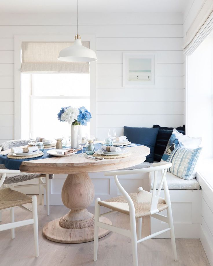 The Modern Nautical House Of Your Beach Home Dreams Nautical Dining Rooms Dining Nook Farmhouse Dining