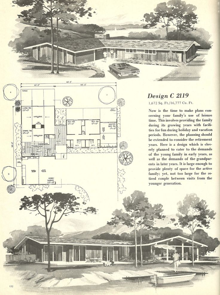 1000 images about house plans vintage on pinterest for 1960s floor plans