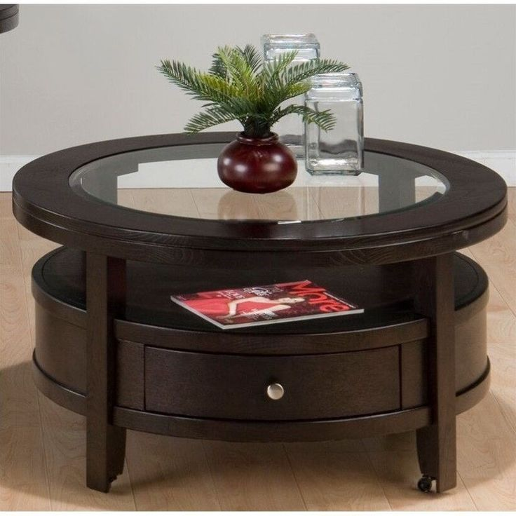 Jofran Marlon Round Wood Coffee Table in Wenge - 25+ Best Ideas About Round Wood Coffee Table On Pinterest