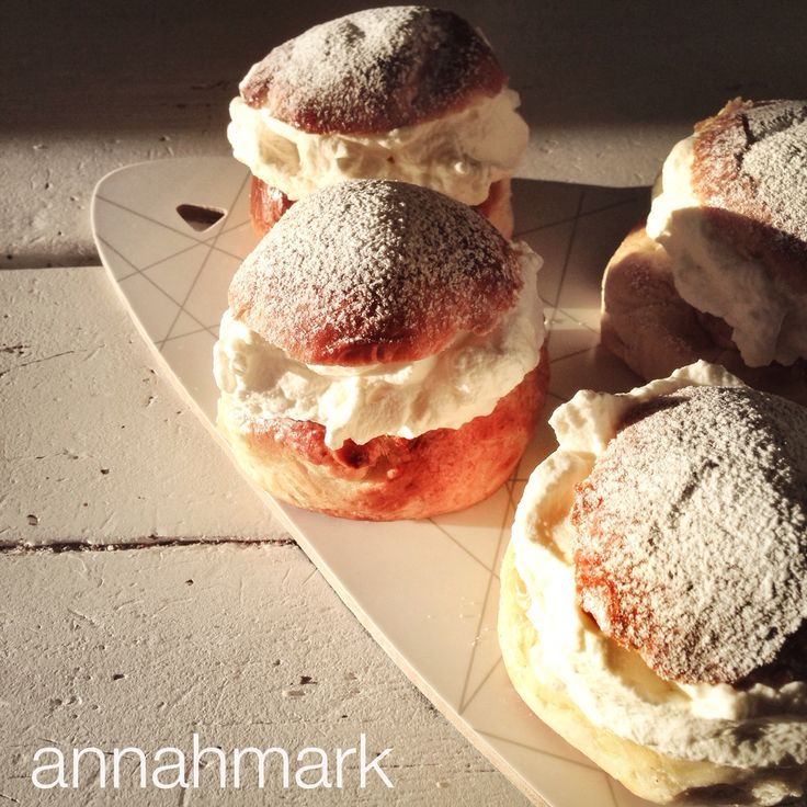 """Semlor II"" Styling & photography by annahmark #semlor #goldenhour #swedish #pastry #foodstyling"