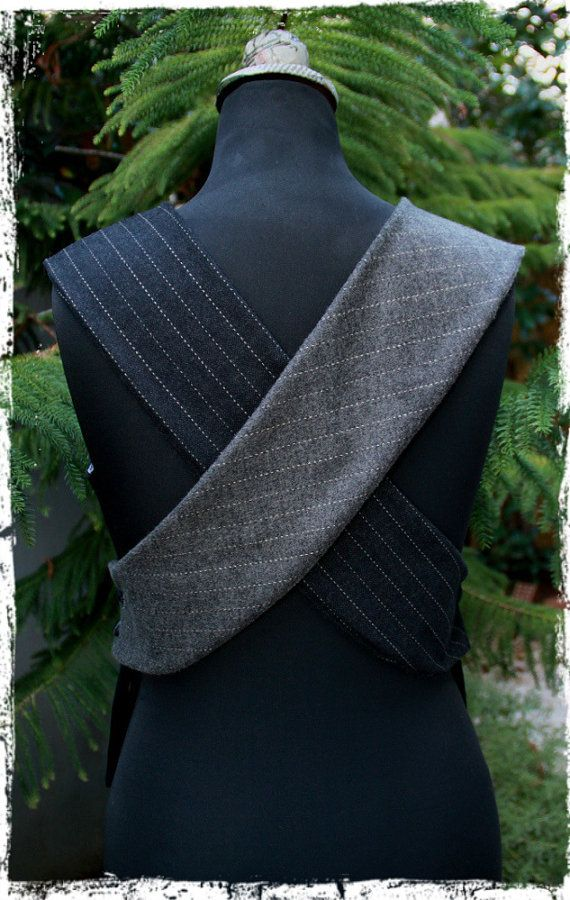 """EatingTheGoober"" upcycled open back vest using old men's vest"