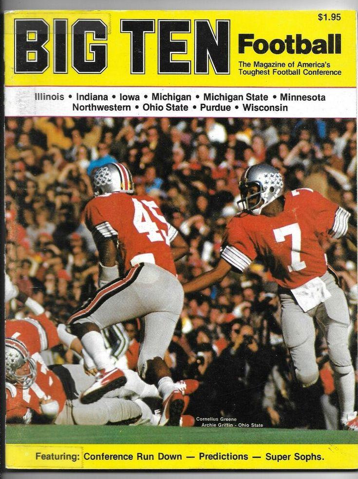July 1975 Big Ten Football Magazine Archie Griffin