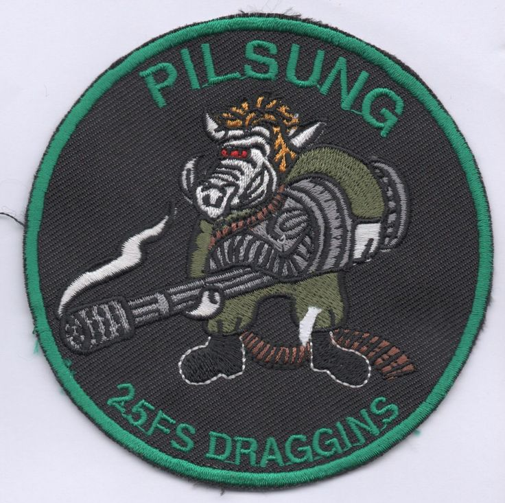 US Air Force 25th Fighter Sqdn Assam Draggins Pilsung patch, A-10 Thunderbolt