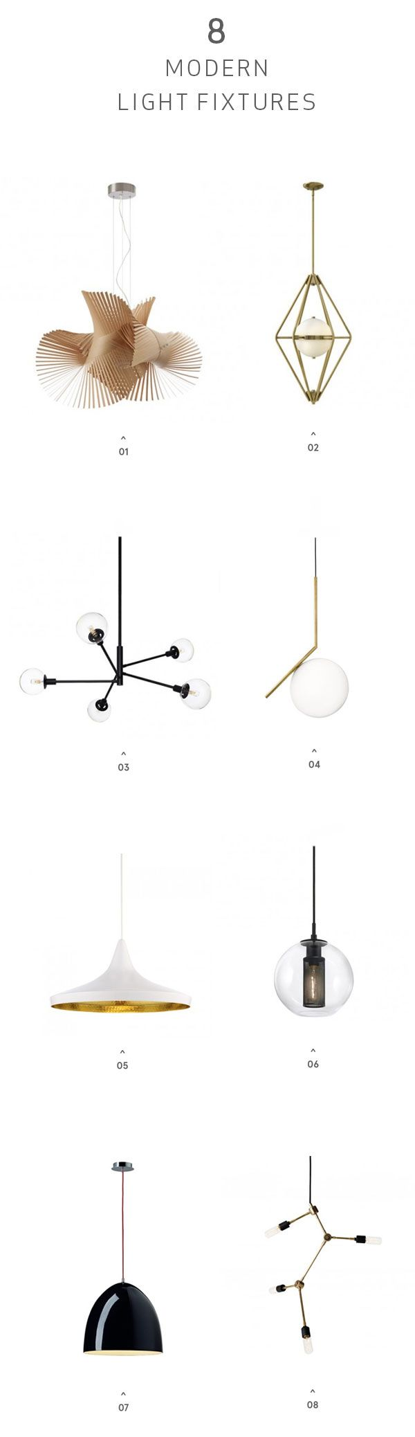 pinned by barefootblogin.com 8 Modern Light Fixtures