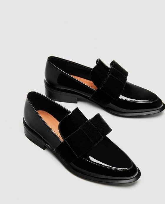 schattig nieuw laagste prijs Afbeelding 3 van MOCASSINS MET FLUWELEN STRIK van Zara ...
