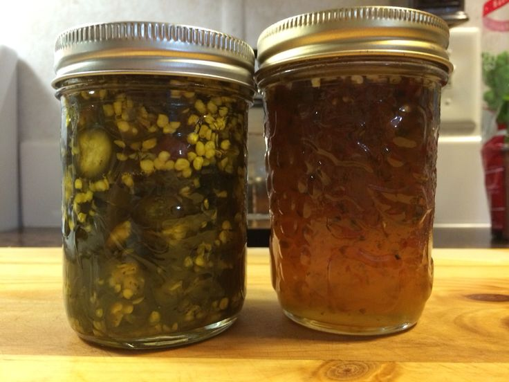 Jalapeno jelly and cowboy candy.