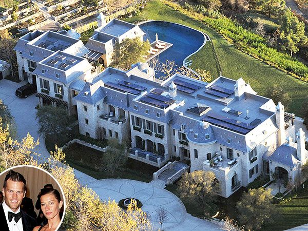 Football star Tom Brady, supermodel Gisele Bundchen and their family live in this $20 million Los Angeles mansion.