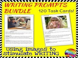 WRITING 120 Task Cards IMAGE PROMPTS BUNDLE Writing Varied Genre for Writing Activity Centres - Teaching Resources - TES