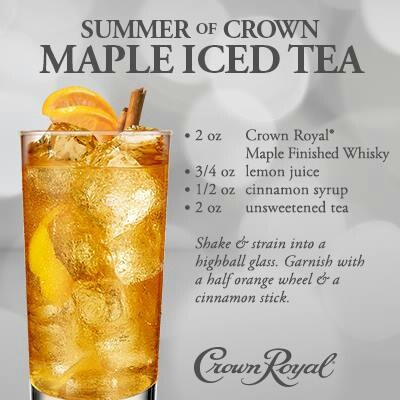 Crown Royal Mix - Summer of Crown - Maple Iced Tea
