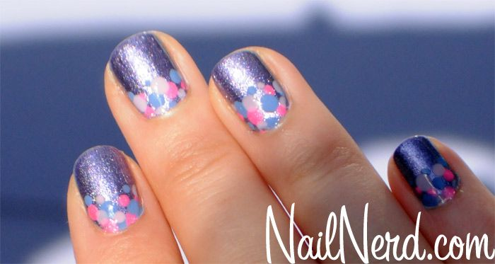 This looks very cute and upbeat. Probably a good summer design.: Mittens Dots, Nails Design, Awesome Nails, Fingernail Design, Summer Design, Hair Nails Makeup, Dots Mani, Awesome Dotty, Dots Nails