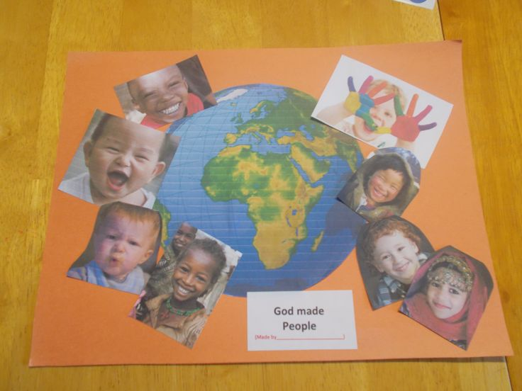 In the beginning..God made people | Sunday school crafts ...