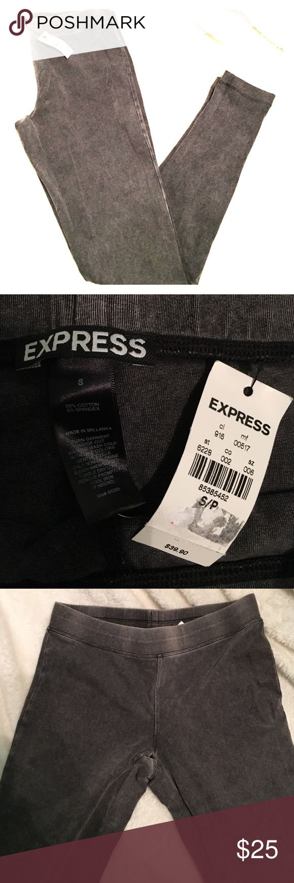 NWT Express gray leggings Elastic waistband : faded gray color : soft material : Brand new : price firm Express Pants Leggings