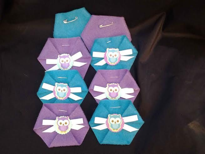 48pc Dirty Diaper Game Baby Shower Owl Theme, Happi Tree Woodland Critters  Purple U0026 Turqouise Baby Shower Favors