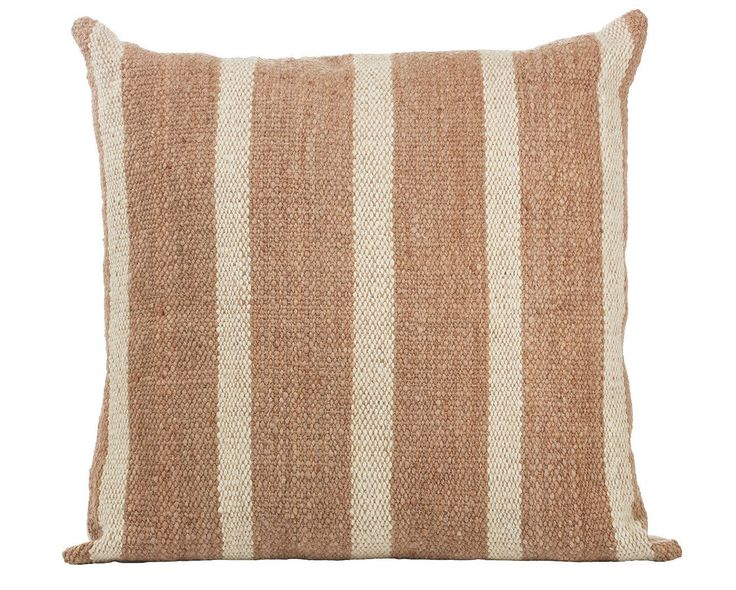 """This pillow has been handwoven with 100% Highland sheep wool by skilled artisans in the dry forests of Northern Argentina. The beautiful blush color has been obtained from dyes that were made from the root of the """"Paw"""", a tree that grows in the warm mountain region of the Santiagueño. Size is 22in x 22in. Sold with a 95/5 feather/down insert. SHIPPING & DELIVERY INFO  This item is instock and ships within 7 days ofpurchase. When theitem has shipped we will sen..."""
