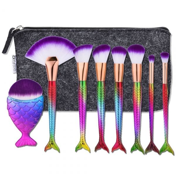 8PZA Maquillaje Brocha Sirena Set Base en Polvo Colorete Sombra de Ojos Cosmético Kit de Pinceles con Bolsa de Maquillaje #pinceles #brochas #cepillos #maquillaje #herramientas #sombradeojos #moda #cosmetico #belleza #sirena #barradelabios #colorete #perfumes #tmart #Tmart #cupon #oferta #descuentos #chollo #regalo #navidad #comprar