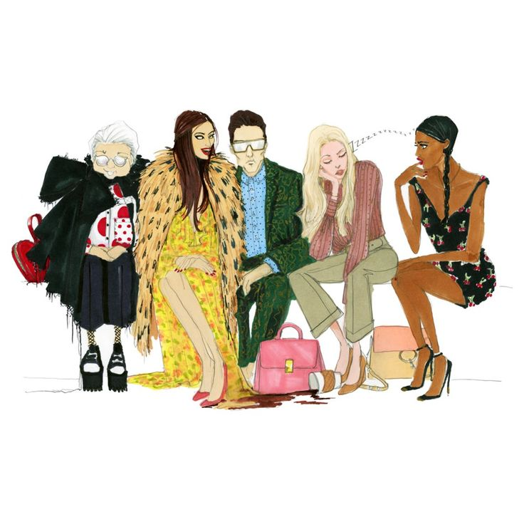 These Illustrations Will Decode Fashion Week Like You've Never Seen Before via @WhoWhatWearUK